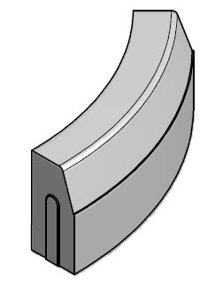 Kelio bortas 1000 mm spindulio